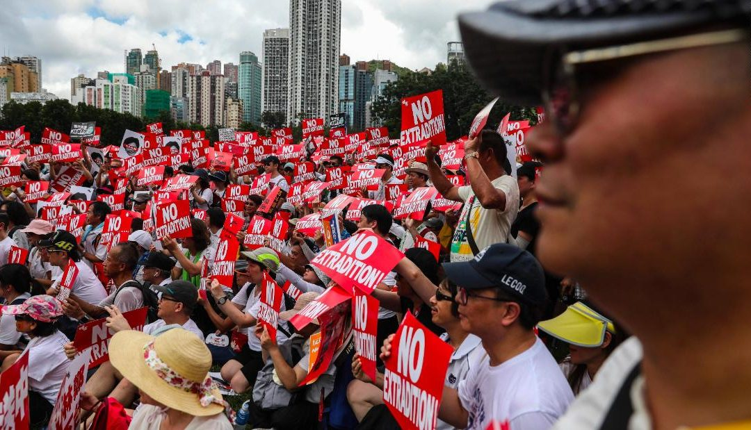 More than 1 million protest in Hong Kong, organizers say, over Chinese extradition law